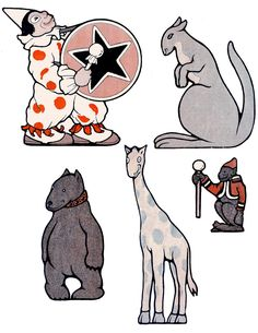 Click HERE for the Full Size Printable for Page 1 Click HERE for the Full Size Printable for Page 2 This week's Vintage Kid's Printable is this super cute 1920 Circus Parade!!! I just love the sweet faces on these animals. Included are a darling Clown, Kangaroo, Monkey, Giraffe, Bear, Elephant, Ostrich, Lion, and Tiger!...Read More »
