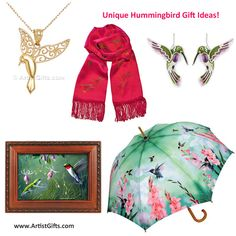Find Unique Hummingbird Gifts including Artisan Hummingbird Jewelry, Hand Painted Scarves, Music Boxes, Umbrellas .... Free U.S. Shipping Everyday!