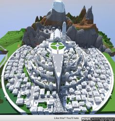 Minas Tirith from Lord of the Rings!