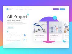 2017 Dynamic effect & UI Design on Behance Website Design Inspiration, Landing Page Inspiration, Ui Inspiration, Web Layout, Layout Design, Pastel Designs, Interface Design, Interactive Design, Material Design