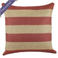 Stripe Pillow in Red  at Joss and Main