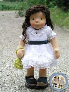 Aurelia - narural fiber art doll by Lalinda.pl