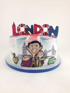 Mr Bean by tomima Mr Bean Cake, Bean Cakes, Mr Bean Birthday, Birthday Cake, Cupcakes, Cupcake Cakes, Beautiful Cakes, Amazing Cakes, Mr. Bean