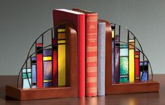 Exposures Stained Glass Lighted Bookends Multi | eBay