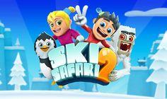 Ski Safari 2 es un entretenido juego arcade de Ski en el que tendremos que bajar por la montaña esquivando obstáculos con la ayuda de diferentes animales.
