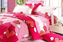 Cheap cotton bedding set, Buy Quality duvet cover set directly from China king size Suppliers: Red Heart New Contracted Cotton Bedding Sets Comfortable Duvet Cover Sets Full Queen King Size bed For Sale Cheap Bedding Sets, Cotton Bedding Sets, Bed Linen Sets, Cotton Sheets, Linen Bedding, Bed Sheet Sizes, Colorful Bedding, Christmas Bedding, Headboards For Beds