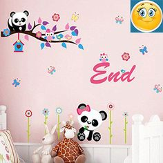 owls pandas flowers butterflies wall decal pvc home sticker house vinyl paper decoration wallpaper living room bedroom kitchen art picture diy murals girls