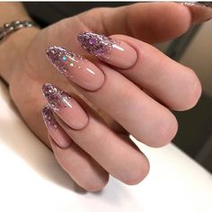 Perfect Nails, Gorgeous Nails, Pretty Nails, Almond Acrylic Nails, Best Acrylic Nails, Nail Manicure, Gel Nails, Glitter Nails, Fire Nails