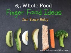 These finger foods are very easy to prepare and they are a great choice for babies as young as 6 months. Your baby may be ready for finger foods from early on. These finger foods for a are an easy, nutritious and safe choice. Toddler Meals, Kids Meals, Toddler Food, Whole Foods List, Baby Food Recipes, Whole Food Recipes, Fingerfood Baby, Weaning Foods, Baby Finger Foods