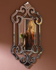 Beveled Scroll Mirror - Horchow  From horchow.com