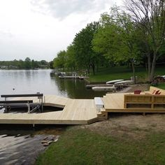 large dock at Lake Lorelei with boat lift