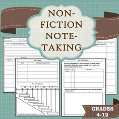 Do your students need support with taking effective notes while reading in the content areas?  Do they struggle with Cornell notes?  Are they visual learners?  Are you looking for ways to incorporate non-fiction texts into your English classes?  This template can be printed and used with any history/social science or science textbook/ebook.