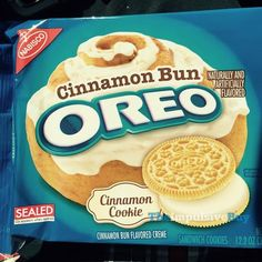 Cinnamon cookie. Interesting. Cinnamon bun flavored creme. Interesting. Not a limited edition flavor. Interesting. Using 12.2-ounce packaging instead of the 10.7-ounce packaging we've seen wi…