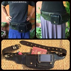 Leather Utility Belt Bags