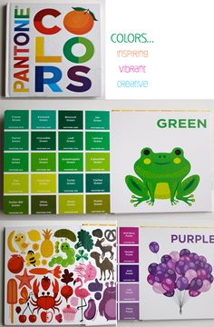 Pantone Colors Introduces children to 9 basic colors and 20 shades of each. Demonstrates the concept that one color name actually refers to a variety of dark, light, and in-between tones.