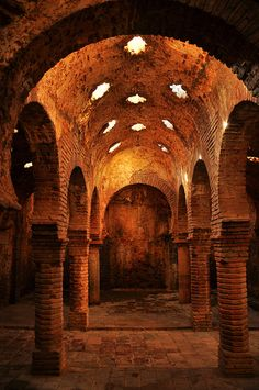 Baños árabes (siglo XIII) by -Kaesar- on Flickr.... Reminds me of the Underground or a secret meeting place of the Unnamed.