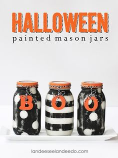 Add these boo-tiful jars to a kitchen table, a mantel, or a staircase.