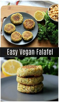 Falafel This easy vegan falafel is made with canned chickpeas so it only takes a few minutes to prepare!This easy vegan falafel is made with canned chickpeas so it only takes a few minutes to prepare! Falafel Recipe Canned, Vegan Falafel Recipe, Vegan Recipes, Cooking Recipes, Easy Healthy Vegetarian Recipes, Falafel With Canned Chickpeas, Vegan Chickpea Recipes, Potato Recipes, Healthy Desserts