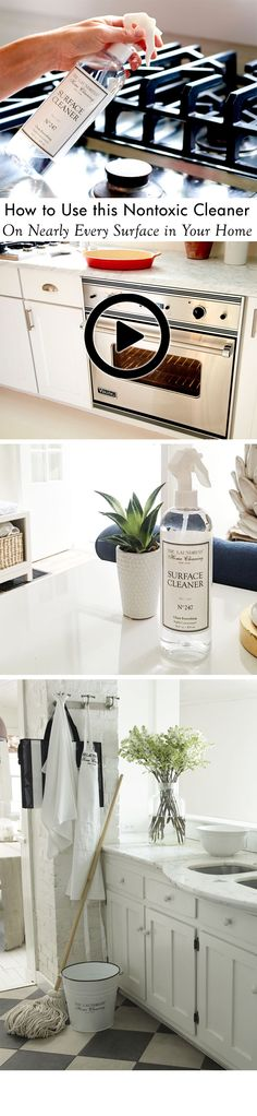 Finally, a single, eco-friendly product to clean ANY surface, including kitchen countertops, appliances, bathroom fixtures, tiles, and more. Highly concentrated yet safe to use around kids and food. Click to watch video.