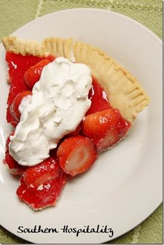 Shoney's Strawberry Pie recipe - I've gotta try this sometime.....