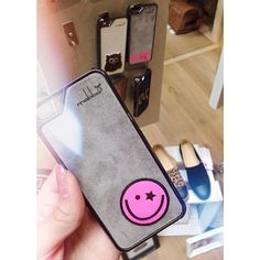"""Smile Me"" Smartphone case - iPhone 5/5S Case handmade from genuine leather!  Handgemacht aus echtem Leder für iPhone 5/5S & iPhone 4/4S <3"