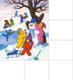 Children Playing in the snow Weather For Kids, Winter Kids, Winter Art, Seasons Months, Weather Seasons, Winter Illustration, Story Starters, How To Speak French, Laura Lee