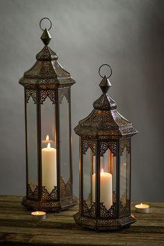 Mothology.com - Perforated Metal Moroccan Lanterns, $149.00 (http://www.mothology.com/perforated-metal-moroccan-lanterns/)