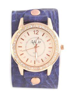 Relógio Azul Rosé Brilho