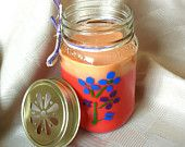 PEACH NECTAR SOY Candle Layered on Black Cherry Made with Pure Essential Oils