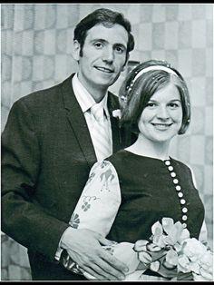 My very own mum & Dad xxx 1970's wedding  70's bride and groom.