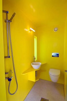 unusual bathroom interior designs with yellow furnitures ideas