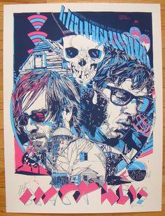 2011 The Black Keys - Winnipeg Concert Poster by Tyler Stout