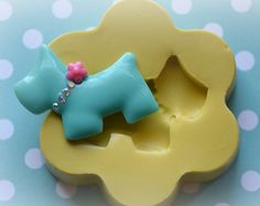 DM0005-Scottie Dog Cabochon Silicone Rubber Flexible Food Safe Mold Mould- resin, decoden, fondant, candy, cupcake topper, chocolate