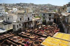 Fez tanneries, Fez, Morocco