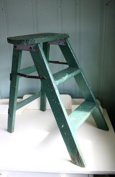 Hey, I found this really awesome Etsy listing at https://www.etsy.com/listing/247946375/vintage-step-stool-folding-ladder-shabby