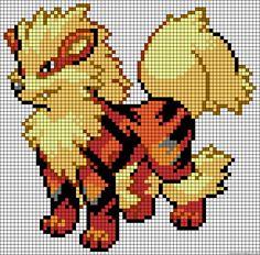 Arcanine - Pokemon perler bead pattern
