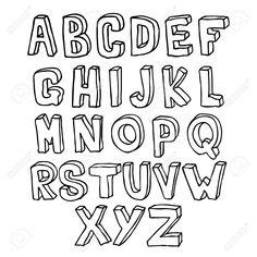 25326642-Hand-drawn-Lettering-3D-alphabet-Stock-Photo.jpg (1300×1300)
