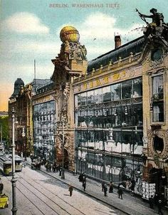um 1900 Berlin - Warenhaus HermanTietz, Leipziger Straße (Postkarte)