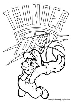 More NBA Coloring Pages On Maatjes