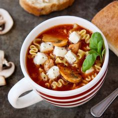 This Slow Cooker Lasagna Soup with Chicken and Mushrooms is a fun rendition of the very popular Lasagna Soup I originally shared with you a few years ago!