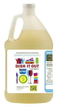 Dish Soap - Grease Kicking Cleaner, One Gallon | Better Life