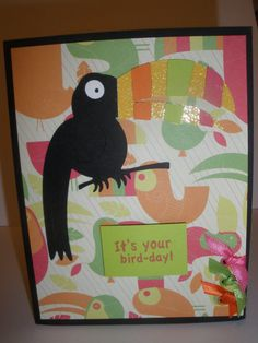 Toucan Birthday Card. Available on my Etsy!