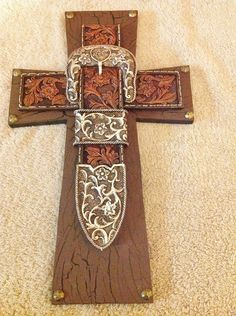Western Belt Buckle Cross. $25.00, via Etsy.