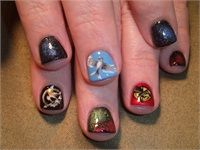 Hunger Games Nails https://www.facebook.com/shorthaircutstyles/posts/1758994281057678