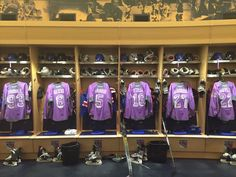 Purple warm up jerseys for Hockey Fights Cancer - New York Rangers Fans