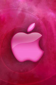 #apple #logo #screen shiny pink