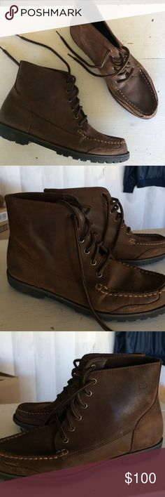 Women's Bass genuine leather ankle boots Women's size 9 GH Bass & co. leather boots. Lace up style , lug sole. Very good condition, minimal scuffs & marks. 6 eyelets  , shaft hits above ankle Bass Shoes Lace Up Boots
