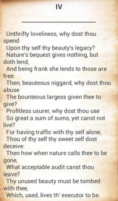 Nature in shakespeares sonnets
