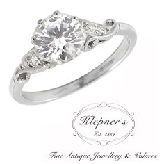 CUSTOM VINTAGE INSPIRED CLASSIC SOLITAIRE ENGAGEMENT RING. This classic vintage inspired engagement ring can be customized to include any combination of diamonds and/or gemstones such as sapphires, rubies, emeralds, birthstones, anniversary stones, etc & can be crafted in 9ct or 18ct white, rose or yellow gold, platinum or sterling silver. Prices vary depending on your unique specifications, please don't hesitate to contact us for a quote tailored for you. Visit us at www.klepners.com.au