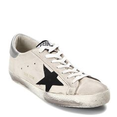 Golden Goose Deluxe Brand Men's Superstar Sneaker G30MS590.A72 Cream/Silver/Black (44 EU)